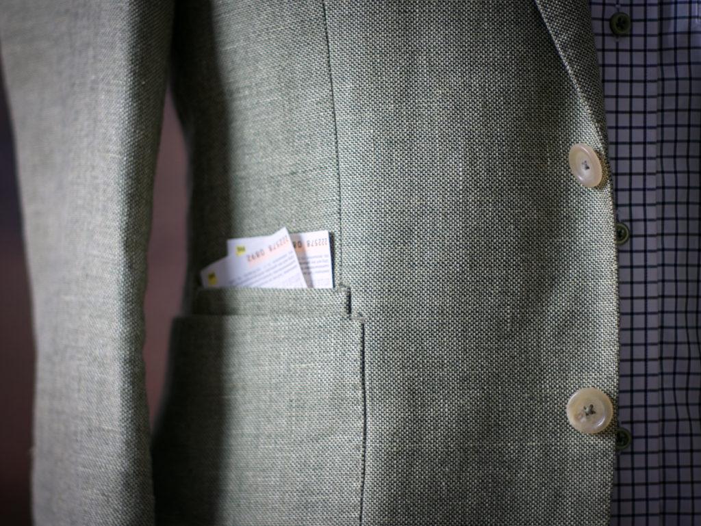 ticket pocket green jacket golf portamento prague